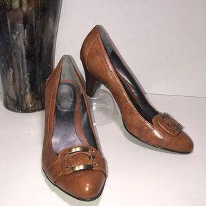 Alfani Step n Flex brown pumps